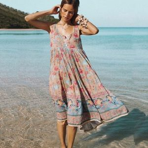 Spell & The Gypsy Seashell Babydoll Midi Dress